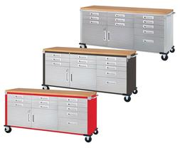 11 Drawer Tool Storage Chest Cabinet Wood Top Workbench Mobi