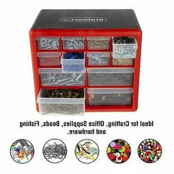 12 Drawers Storage Box Tools Nuts Bolts Crafts Beads Table T