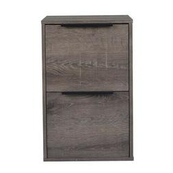 2 Drawers File Cabinet MDF Storage Cabinet Vertical Filing C