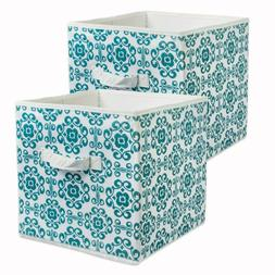 2 x Fabric Foldable Cloth Storage Cube Drawer Storage Basket