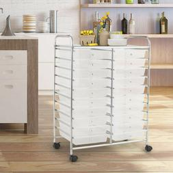 20 Moveable Drawers Rolling Cart Storage Scrapbook Paper Stu