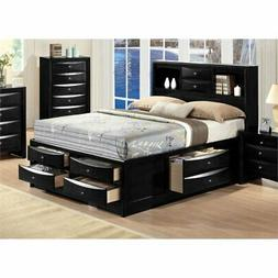 ACME Furniture 21610Q Ireland Bed with Storage, Queen, Black
