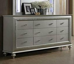 Acme Furniture 27235 Dresser with 9 Storage Drawers, Yellow