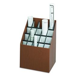 Safco Products 3081 Vertical Roll File, 20 Compartment, Waln