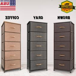 5 Tier Clothes Drawer Cube Tower Storage Office Cabinet Furn