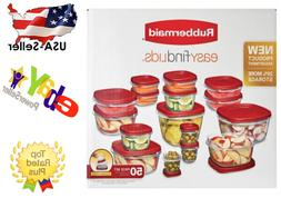 Rubbermaid 50 piece Easy Find Food Plastic Storage Container