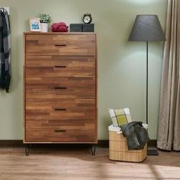 "52"" 5 Chest of Drawers Furniture Cabinet Bedroom Storage,Woo"