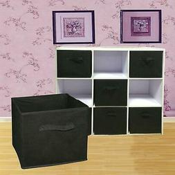 6 Pack Foldable Cube Storage Folding Boxes Clothes Organizer