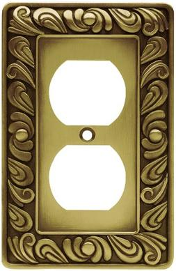 Franklin Brass 64045 Paisley Single Duplex Outlet Wall Plate