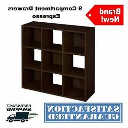 9-Compartment Drawer Laminate Storage Cubes Organizer Stacka