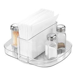 InterDesign Linus Lazy Susan Turntable Napkin and Condiments