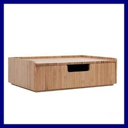 Bamboo Drawer Stackable Storage Solution For Office Products
