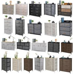 Cerbior Chest of Fabric Drawers Dresser Furniture Bins Bedro