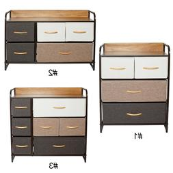 Chest of Fabric Drawers Dresser Furniture Cabinet Bedroom St