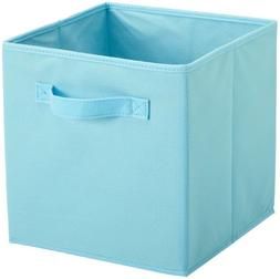NEW Organizer Cube Bin Blue Fabric Basket Storage Store Box