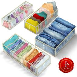 4 PCS Clothes and Underwear organizer for drawers, closet or