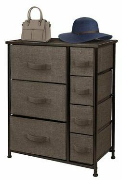 Dresser Bedside 7 Drawers, Furniture Storage Tower Unit for