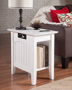 Atlantic Furniture AH13312 Nantucket Side Table Rubberwood,