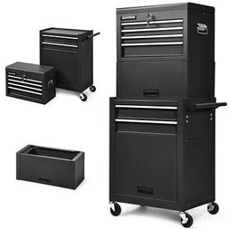 High Capacity 6-Drawer Rolling Tool Chest Storage Cabinet To