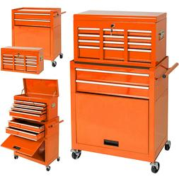 High Capacity Tool Storage Cabinet Rolling Tool Chest w/ Whe