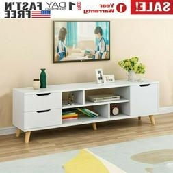 High Gloss TV Stand Unit Wood Console Media Storage Cabinet