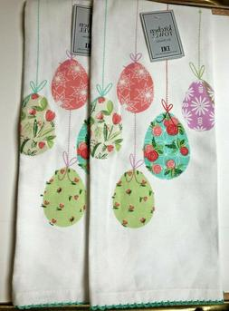 Kitchen Towel DII Set of 2 Cotton Easter Spring Design Embro