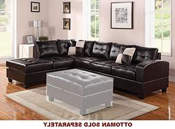 ACME Kiva Espresso Bonded Leather Reversible Sectional Sofa