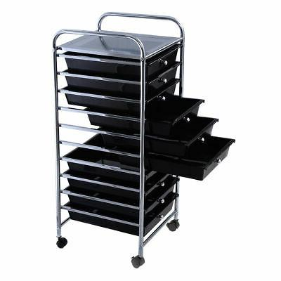 10 Storage Cart Scrapbook School Organizer