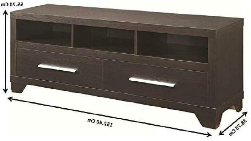 Coaster Home Furnishings 2-Drawer TV Console 3 Compartments