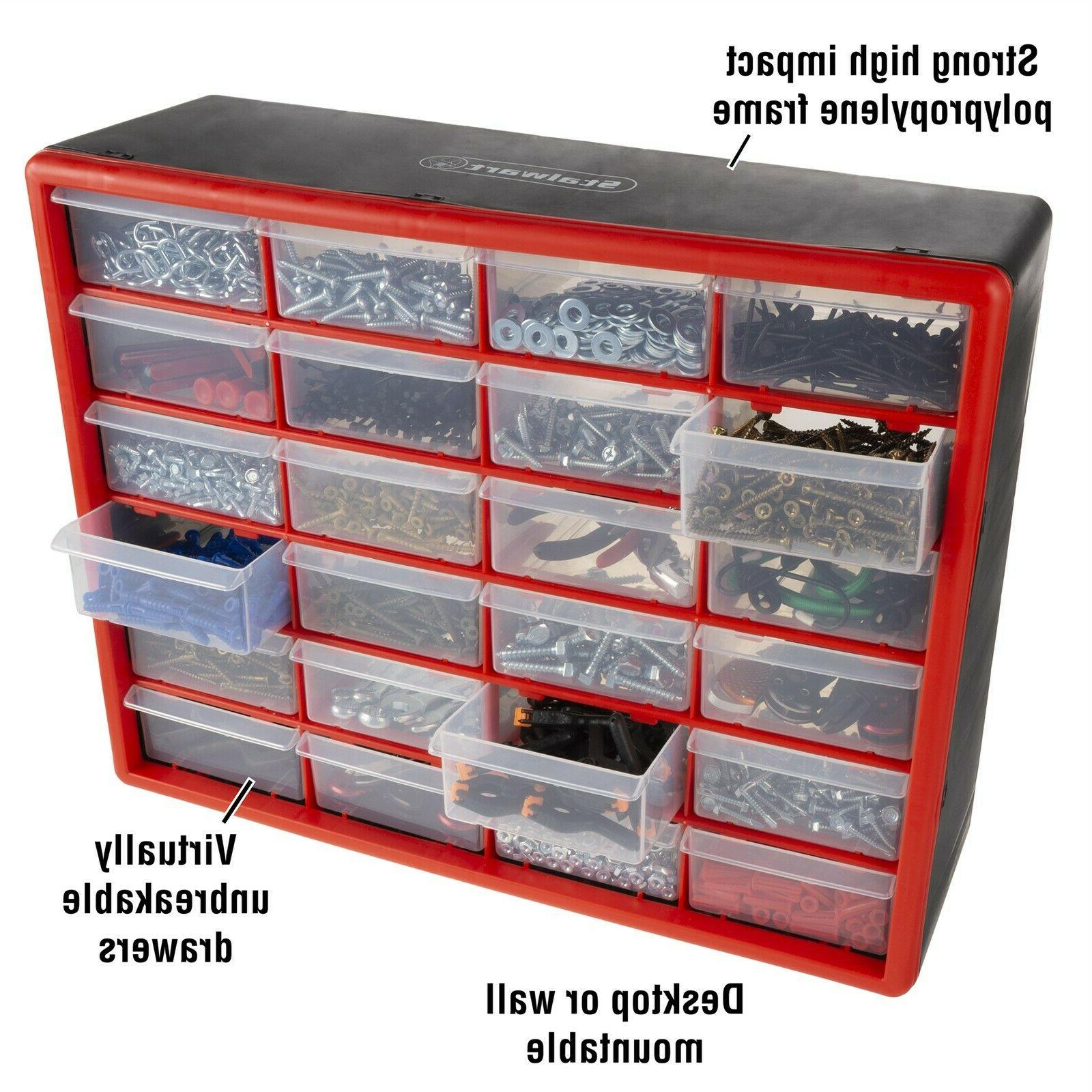 24 Drawers Storage Tools Beads Top x