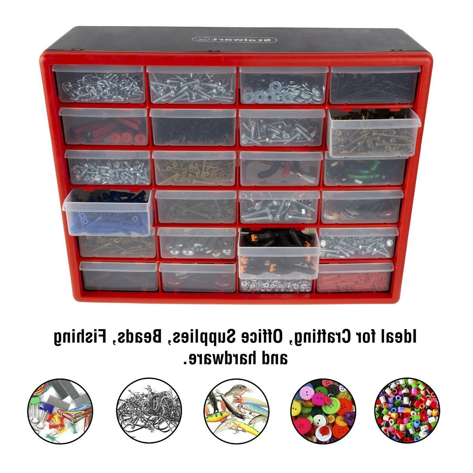 24 drawers storage box tools crafts beads