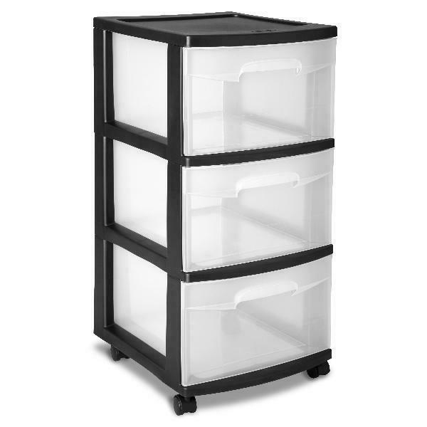 3 drawer cart home room storage container