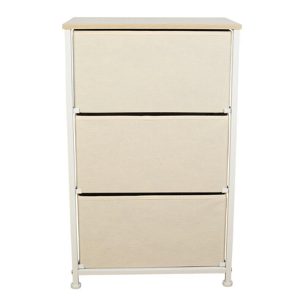 3 Drawers Home Cabinet Dressers Top Removable