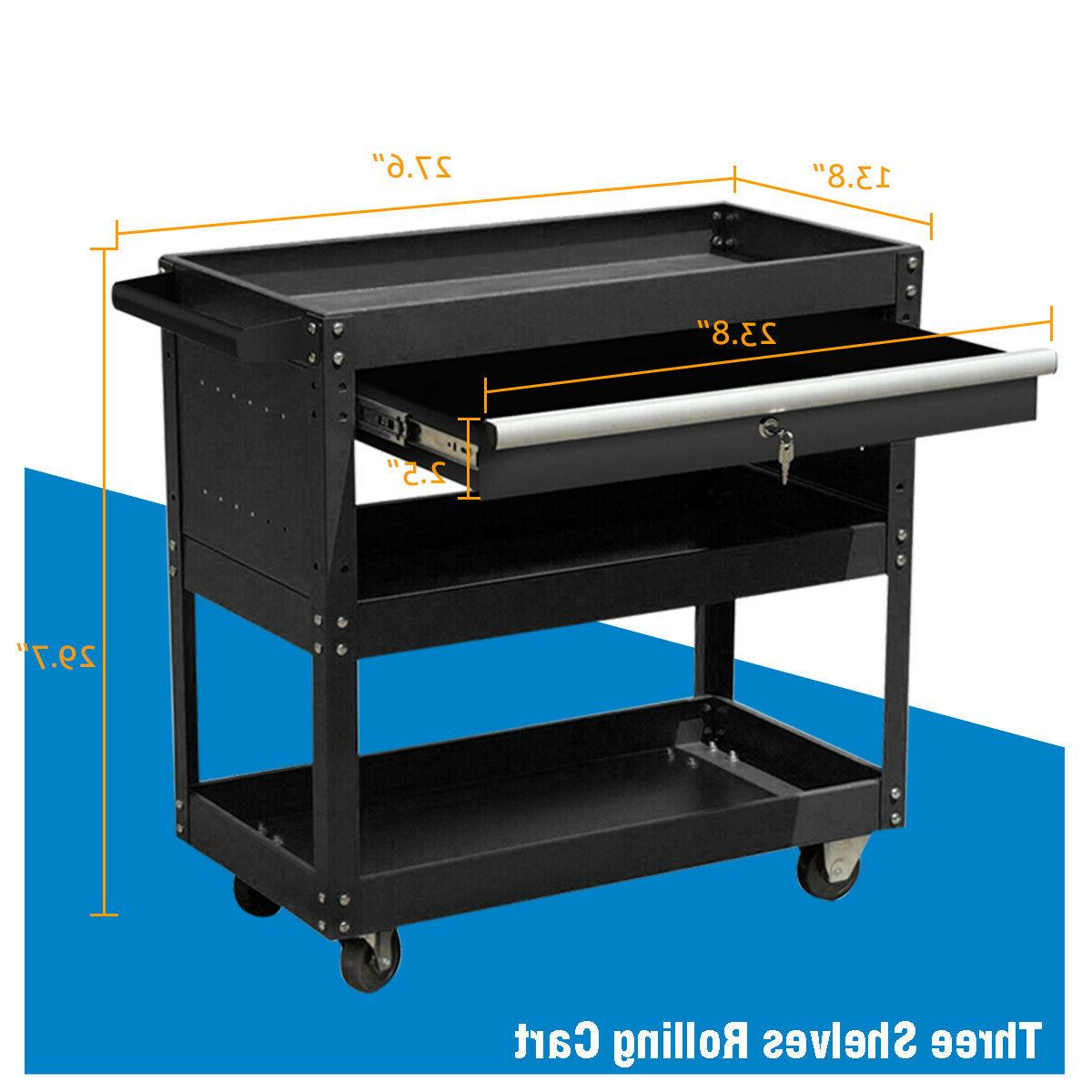 3 Tier Rolling & Drawers Tool Box