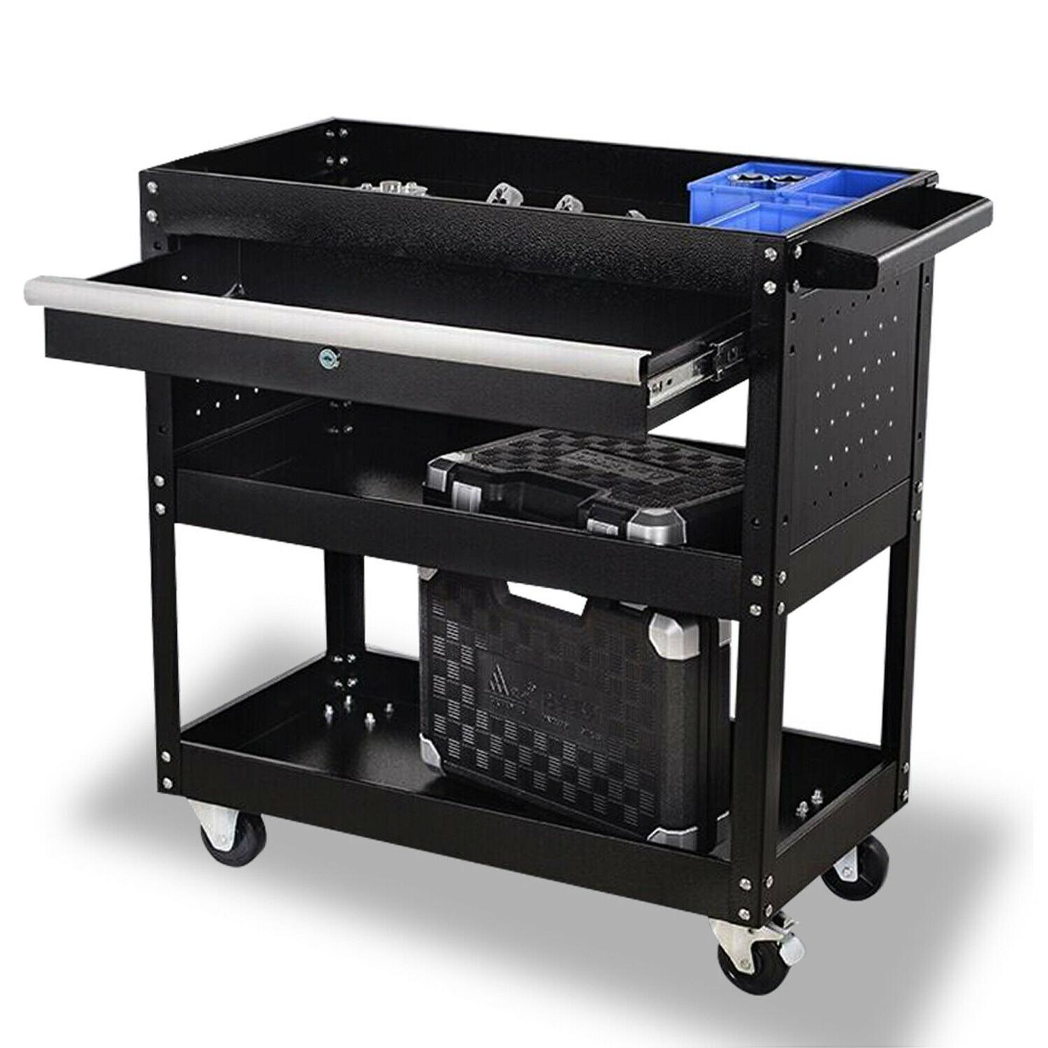 3 tier rolling tool cart utility cart