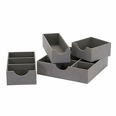 Household Deep 9 Section Drawer Organizer Box in