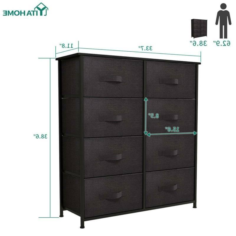 YITAHOME 8 Dresser Bedroom Storage Tower Chest