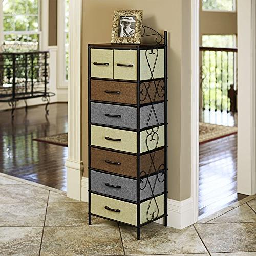 Household Essentials 8044-1 Victorian 8 Storage Dresser |