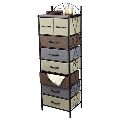 Household 8 Drawer Tower Storage Dresser |