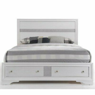 ACME Naima Eastern Bed with White