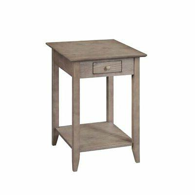 Convenience End Table in Driftwood