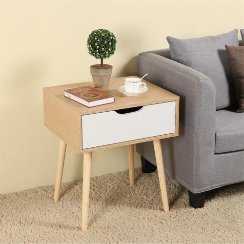 Topeakmart Bedside Storage Nightstand Side Sofa Table with