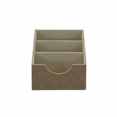 Household Essentials Brown Deep 3 Section