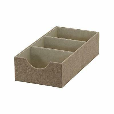 brown 722 1 deep 3 section drawer