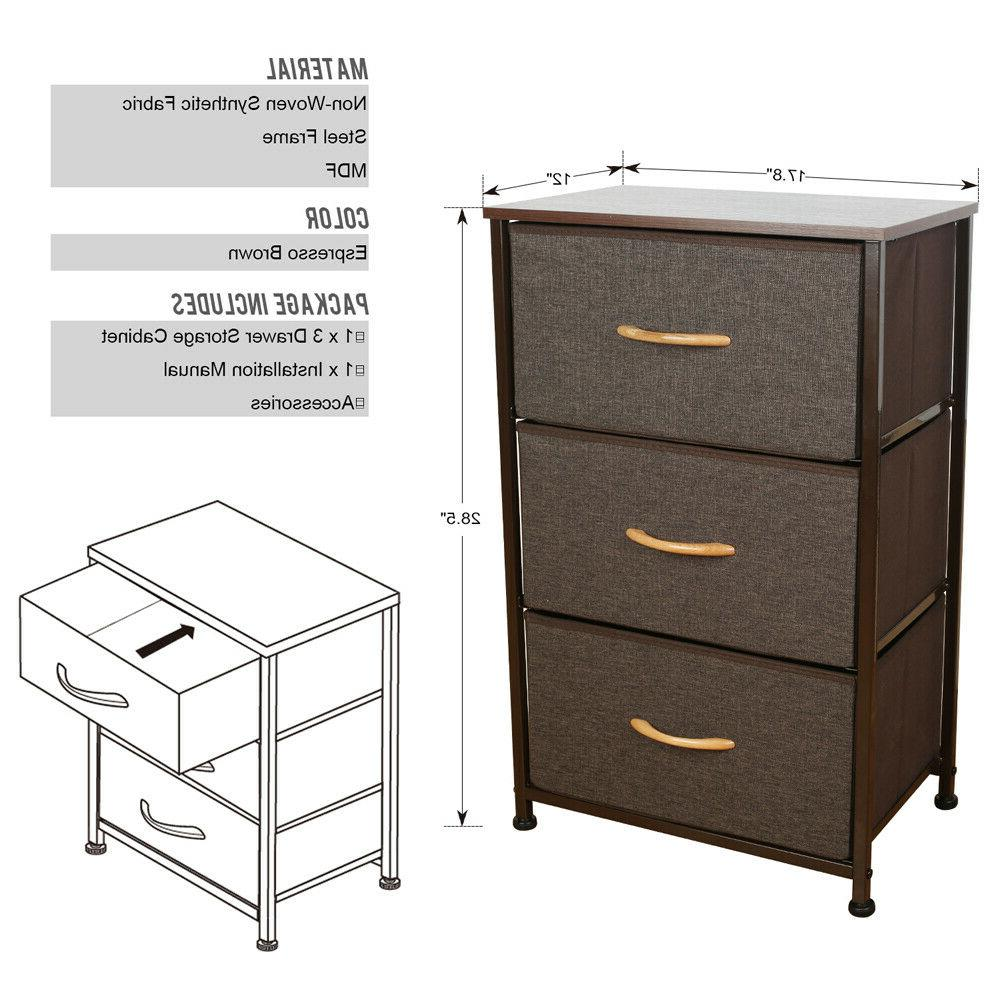 3/4/5 Drawers Fabric Storage Bedroom Office