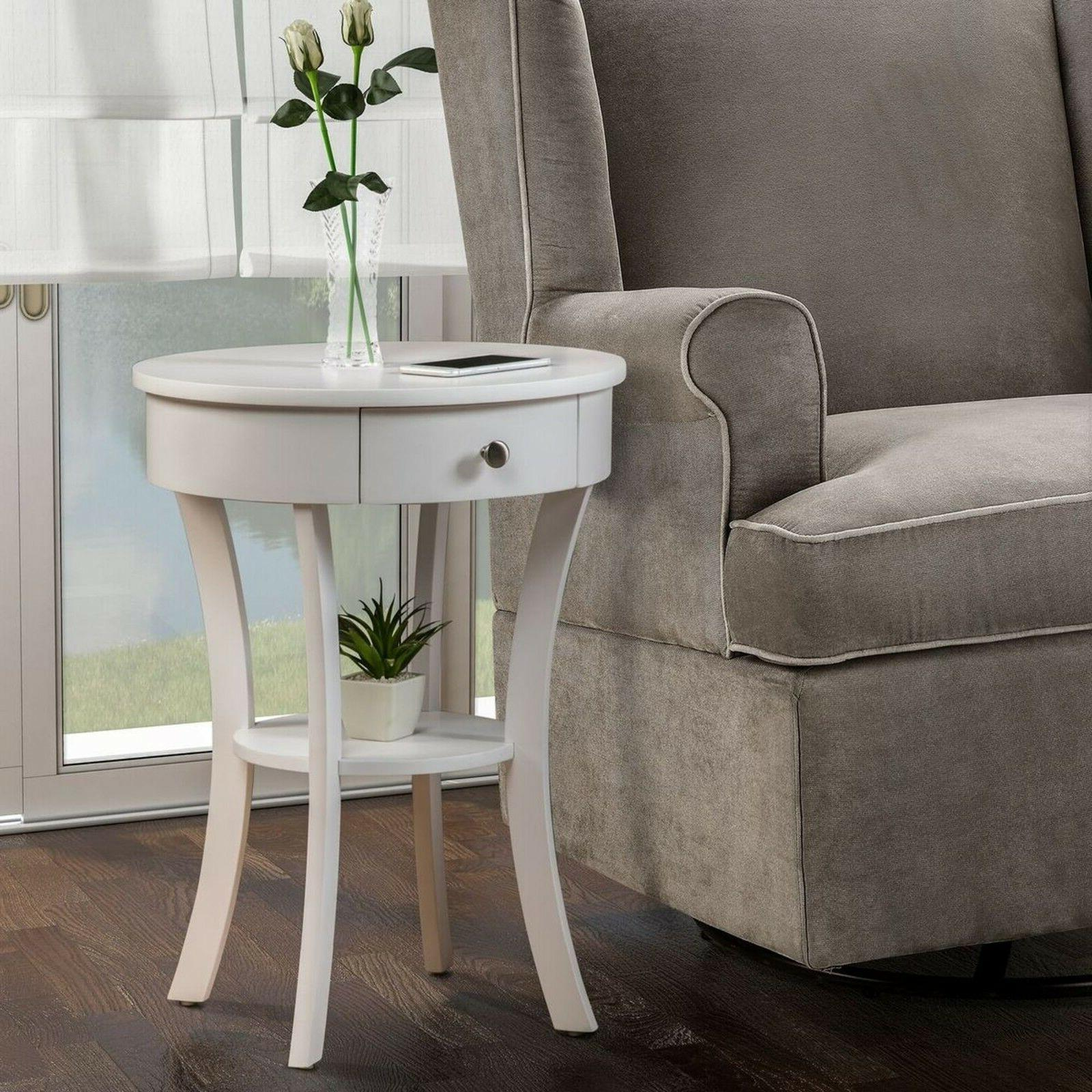 classic accents white schaffer end table 501052w