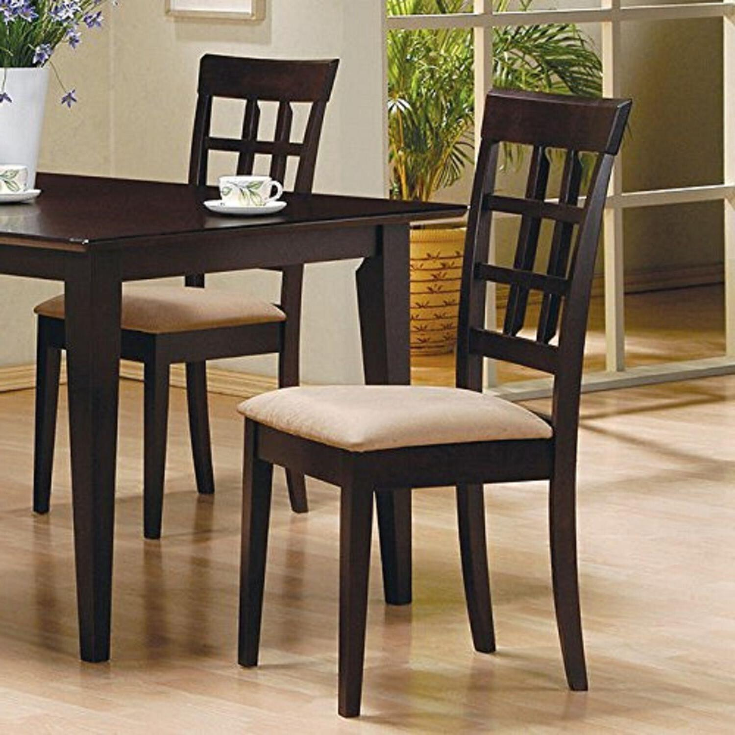 Dining Chair Set 2 Wood Seat New
