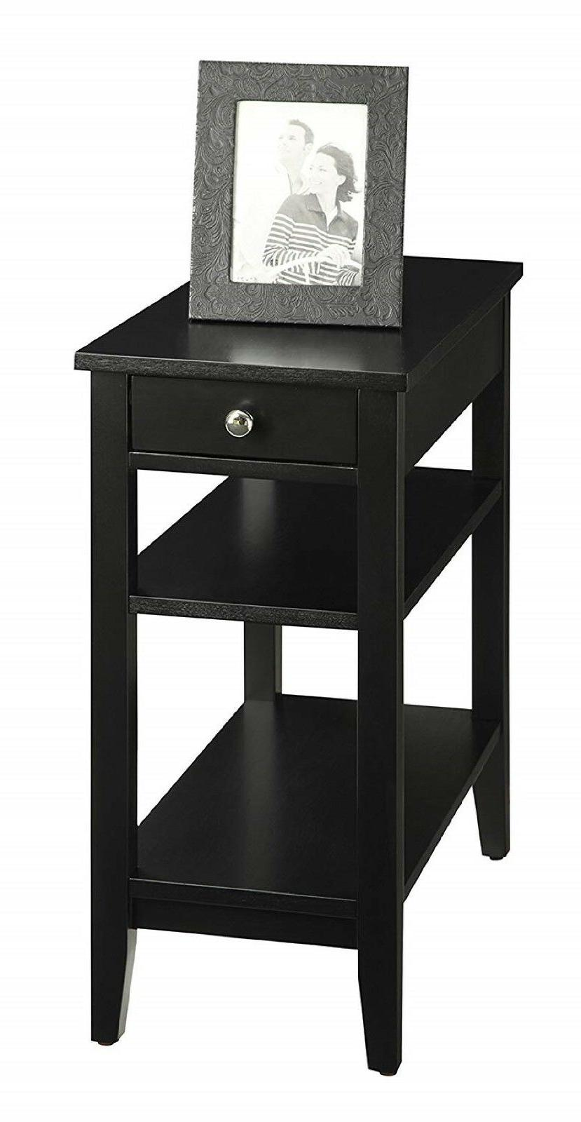 End Storage Drawer Shelves Chair Accent Furniture