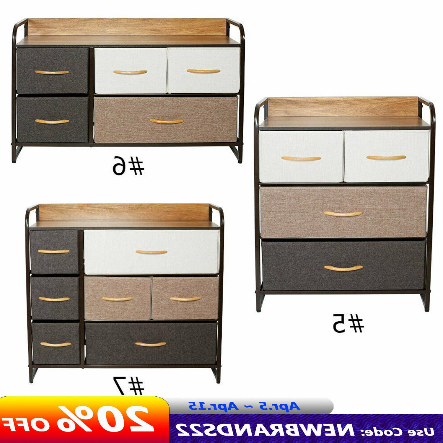 fabric dresser chest 3 4 5 drawers
