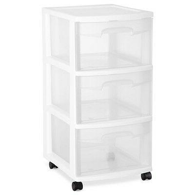 Sterilite Home 3-Drawer Cart Casters